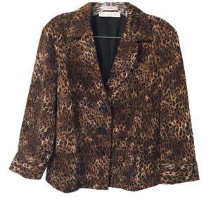 Liz Claiborne Leopard Print Dress Jacket